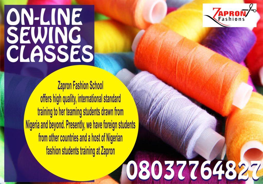 Online Sewing Class Zapron Fashions School A Leading Fashion School In Lekki Lagos